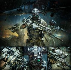 All artworks here are for sale! Please contact me. Military Guns, Military Art, Military Quotes, Armor Concept, Concept Art, Tactical Armor, Military Special Forces, Future Soldier, Modern Warfare