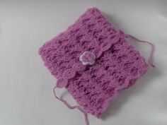 Newborn Blanket.Beautiful lace crochet blanket that look adorable on your little one!Made in soft Mohair.Size
