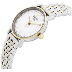 Tissot White Dial Two Tone Stainless Steel Ladies Watch T1092102203100