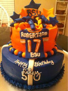 Boise State Football Birthday Cake! GO BRONCOS! GO BSU!