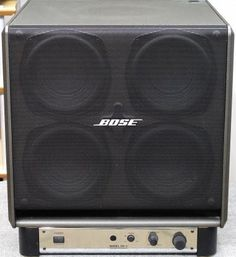 Bose Powered Subwoofer - Image 08 - What's Inside Best Speakers, Audio Speakers, Bose, Sound Room, Home Theatre Sound, Electronic Circuit Projects, Powered Subwoofer, Speaker Stands, Marshall Speaker