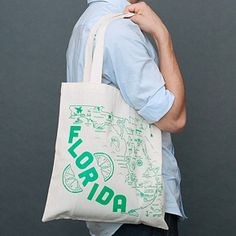 This classic tote bag, featuring the state of Florida, makes the perfect gift or souvenir and is great for toting around groceries and all your daily necessities. State Of Florida, Family Gifts, Reusable Tote Bags, Fancy, My Love, Classic, Christmas Stuff, Wedding, City