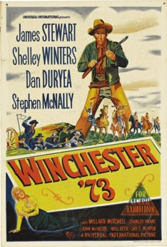 Universal-International western movies | James Stewart Winchester '73 Australian One Sheet Movie Poster