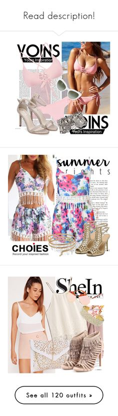 """""""Read description!"""" by slovak-queen1997 ❤ liked on Polyvore featuring Dolce&Gabbana, WithChic, Summer, fringe, Choies, Missguided, shorts, pinkshorts, shein and wrapshorts"""