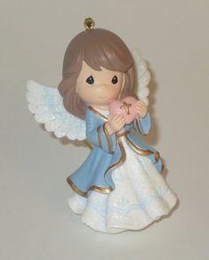 Precious Moments Angel Ornament Heart Christmas Cross NOS Retired No Box #PreciousMoments