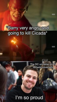 Crazy Funny Memes, Really Funny Memes, Funny Relatable Memes, Arrow Funny, Arrow Memes, The Flash Quotes, The Flashpoint, Logan And Jake, Flash Characters