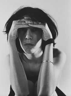 Patti Smith photographed by Suzan Carson.