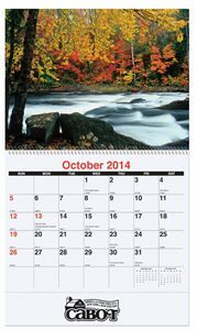 Coil Bound Waterways Monthly Wall Calendar, beautiful photos of American rivers, lakes, and streams. http://www.tucllcpromo.us/calendarswalls.htm