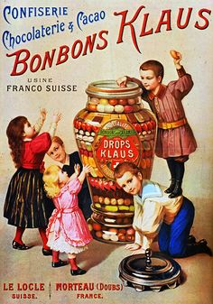 1894 Bonbons Klaus | Retro advert http://usineabonbons.com/accueil.ht                                                                                                                                                      Plus
