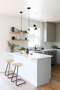 Kitchen Design, Kitchen Ideas, Modern Kitchen, Open Shelving, Semihandmade,  Oakland,