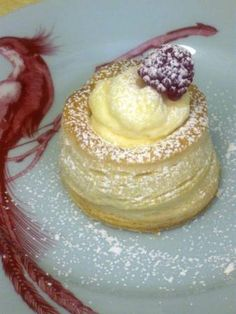 Vols-au-Vent filled with coconut pastry cream and passionfruit mousse