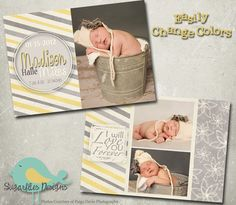 Vintage Baby Announcement Templates  Baby by SugarfliesDesigns, $8.00