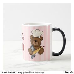 Shop I LOVE TO BAKE! Color Changing Coffee Mug, Coffee Mugs, Cool Designs, Shop My, Baking, My Love, Tableware, Fun, Dinnerware