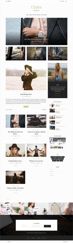 Claire is clean and modern design responsive #WordPress #blog theme for creative #writer and bloggers website download now..