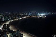 Benedorm, Spain, by night