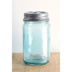 4040 Locust Mason Jar Toothbrush Holder ($29) ❤ liked on Polyvore featuring home, bed & bath, bath, bath accessories, blue, blue bathroom accessories, blue bath accessories, tooth-brush holder, toothbrush holder e toothbrush stand