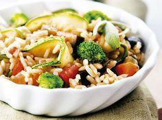 Arroz de Forno com Legumes e Verduras