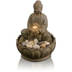 HoMedics EnviraScape Buddha Illuminated Relaxation Fountain