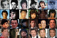 Sly over the decades. Rocky Balboa Movie, Rocky Balboa Quotes, Rocky Film, Sylvester Stallone Young, Sylvester Stallone Quotes, Stallone Cobra, Stallone Rocky, Expendables Tattoo, The Expendables