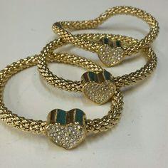 "Selling this Gold heart stretch bracelet set 8"". NWT on Poshmark! My username is: jilld731. #shopmycloset #poshmark #fashion #shopping #style #forsale #Jill Marie Boutique #Jewelry"