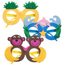 Kids 3D Luau Foam Sunglasses at DollarTree.com #DTGraduationParty ~ The grads will love wearing these for photos