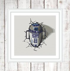 R2D2  Cross Stitch Pattern PDF Star Wars by NikkiPattern on Etsy