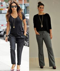 05_Camiseta basica em look para o trabalho_camiseta básica com calça de alfaiataria_colar longo_look elegante e moderno_moda para o trabalho #colarlongo #colares #colar