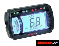 Bikermart: Koso XR~SRN Multi Function Motorcycle Digital Speedometer Dashboard, KOSO DIGITAL DASHES
