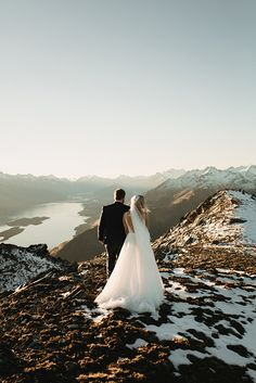 STACEY + RICH // #realwedding #realelopement #wedding #hellomay #bride #groom #bridalgown #weddingdress #suit #mountains #veil