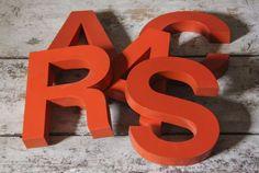 Orange Metal Letters