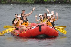White Water Rafting in Maine at camp!
