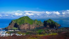 10 Most beautiful Towns in Iceland -  Heimaey island and city at Vestmannaeyjar, Iceland