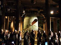 Oshogatsu japan 108 chimes of the temple bells at midnight