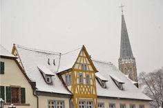 Die Stadt im Schnee