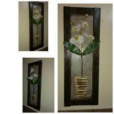 Quadro 3D orquídeas