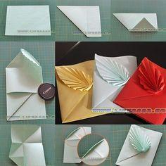 DIY Papier DIY beautiful greeting card with sequin heart DIY tutorials Top Pool Heater Maintenance T Envelope Diy, Envelope Origami, Paper Crafts Origami, Diy Origami, Diy Fold Paper Bag, Paper Folding, Craft Gifts, Diy Gifts, Papier Diy