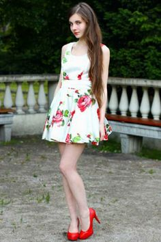 Sleeveless Dress In Floral Print | Choies
