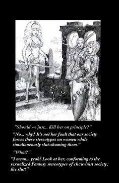 Fantasy female armor meme are not