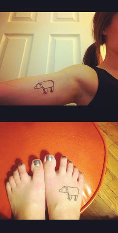 origami bear tattoos