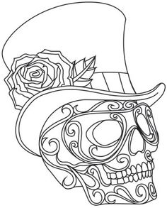 Ideas Embroidery Patterns Halloween Coloring Pages Embroidery Designs, Paper Embroidery, Hand Embroidery Patterns, Vintage Embroidery, Embroidery Stitches, Embroidery Sampler, Machine Embroidery, Skull Coloring Pages, Adult Coloring Book Pages