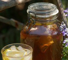 As a child, I remember the big gallon sized jars sitting out in the sun with tea bags in it. I couldn't wait for the sun to finish doing its thing so I could enjoy some fresh tea.