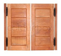 """Buy the royalty-free Stock image """"Double swing wood door"""" online ✓ All image rights included ✓ High resolution picture for print, web & Social Media Bakery Shop Design, Double Swing, Door Images, Doors Online, Swinging Doors, Bathroom Doors, High Resolution Picture, Wood Doors, Furniture Design"""
