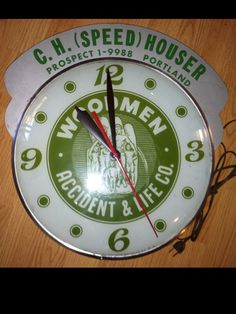 Woodmen insurance vintage Clock