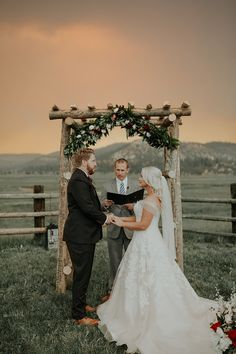 Wedding with wild fire clouds - literally!  www.cassandrafarleyphoto.com