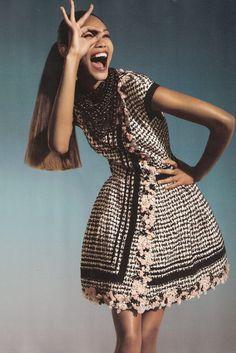 Chanel Iman in Spanish Vogue