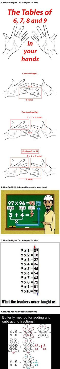 If You're Bad At Math Learn These Simple Tricks...click for more