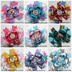 Disney Princess Hairbow Set (select quantity at checkout) Deluxe Boutique Bows