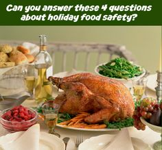 Can you answer these 4 questions about holiday #FoodSafety?