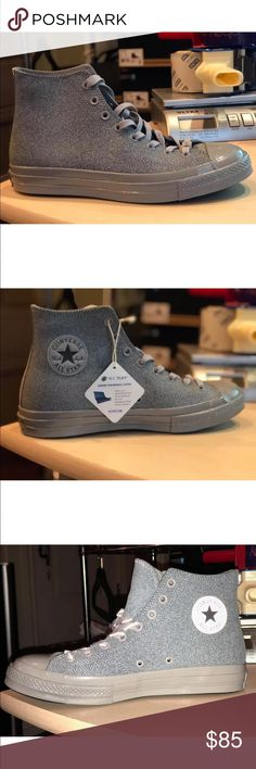 60f119022453 Men s Converse Chuck Taylor All Star CTAS II 2 HI NEW IN OPEN TOP BOX  AUTHENTIC MEN S SIZE 10 US COLOR  DOLPHIN GREY RETAIL   150+TAX Converse  Shoes ...