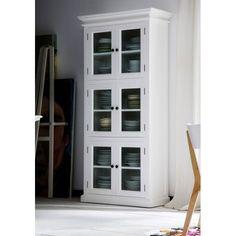 Armoire,3 vitrines,acajou blanc,6 étages,halifax